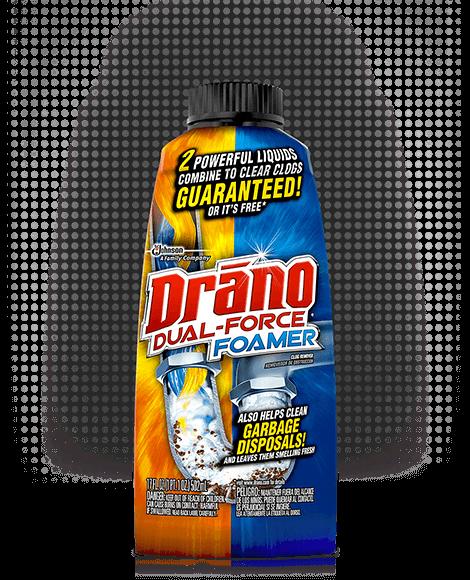 Drano Dual-Force® Foamer Clog Remover | Drano® | SC Johnson